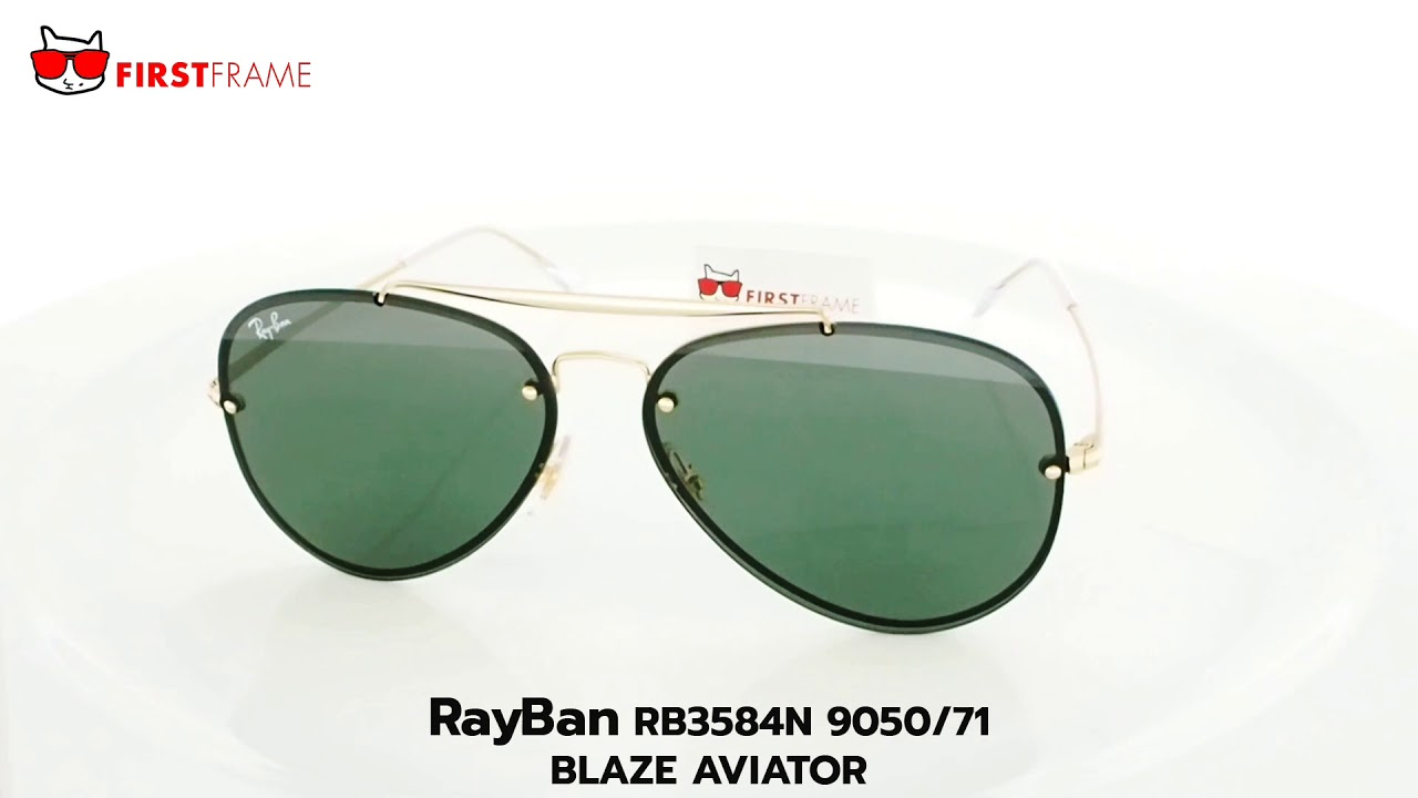 0fa8dafc2e1d RayBan RB3584N 9050 71 BLAZE AVIATOR - YouTube