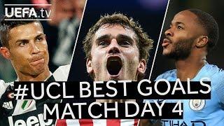 RONALDO, GRIEZMANN, STERLING: #UCL BEST GOALS, Match Day 4
