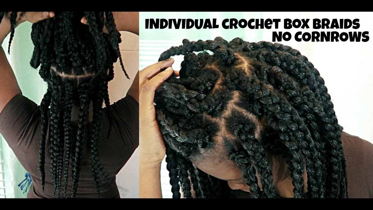 How To Individual Crochet Box Braids No Cornrows