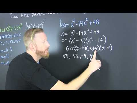 Find The Zeros Of A Polynomial And Their Multiplicities