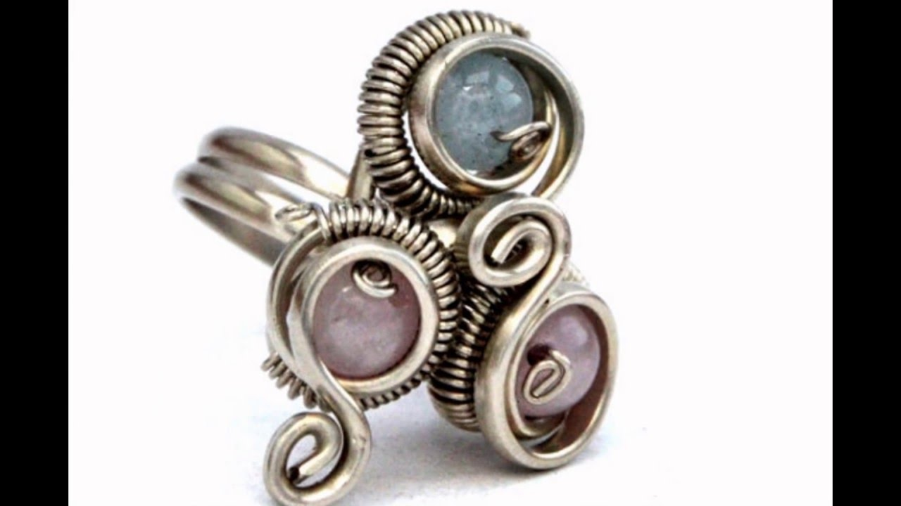 Crystal Rings & Handmade Wire Wrapped Jewelry - YouTube