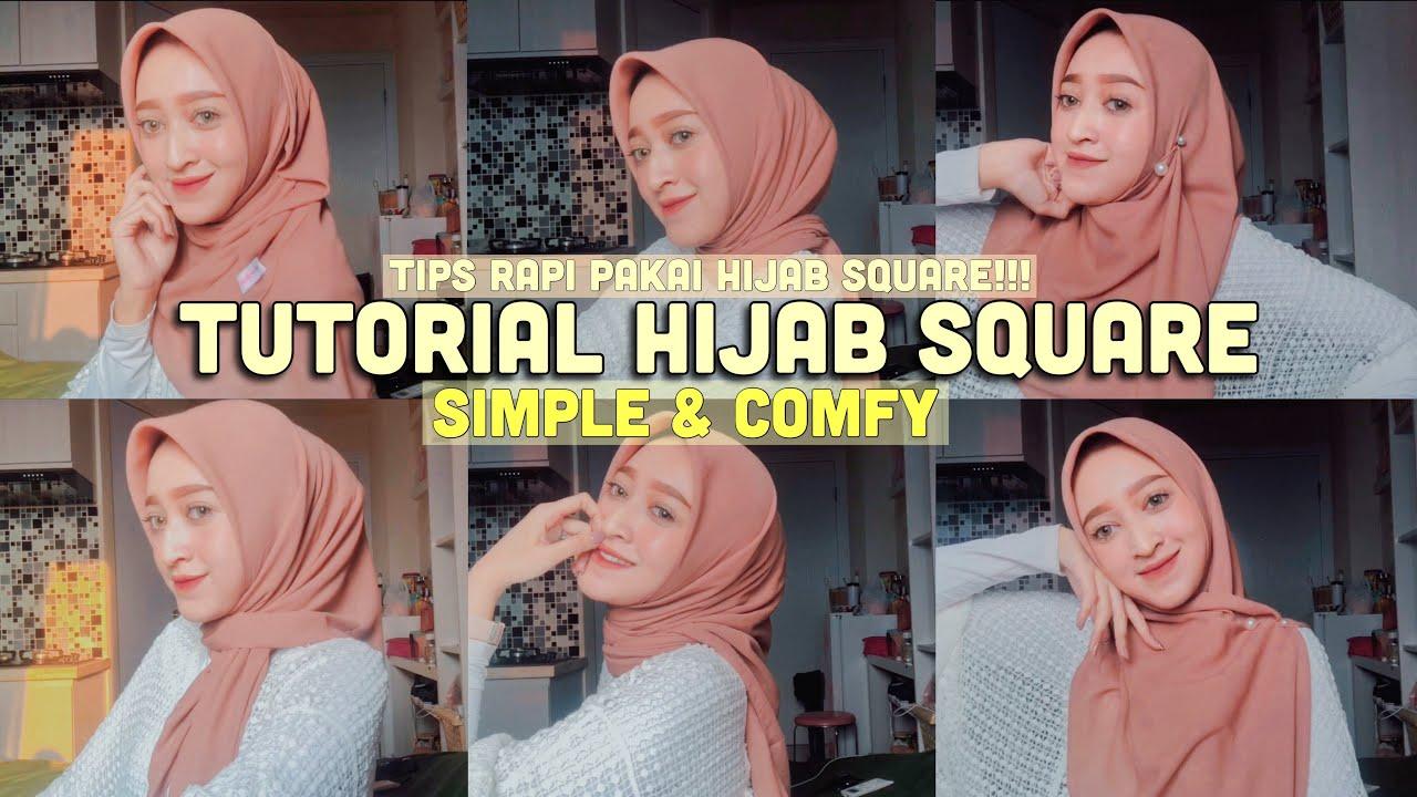 Tutorial Hijab Square Rapi Nyaman Simple Seviq Febinita Youtube