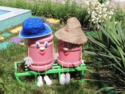 оформление участка детского сада летом своими руками