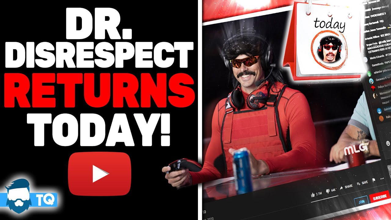 Dr. Disrespect Returns To Streaming In A New Place