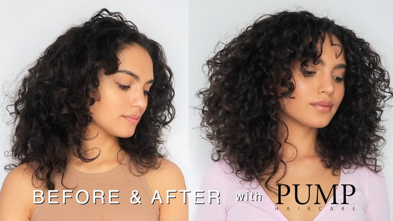 Trying Out Pump Haircare For Curly Hair Wash Routine Review Youtube