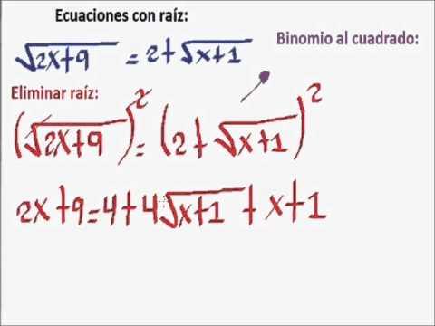 Ecuación con raíz. Parte 01. - YouTube