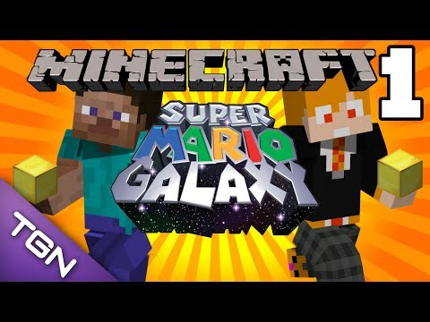 Minecraft : Super Mario Galaxy Map - นักเก็บทอง Part.1