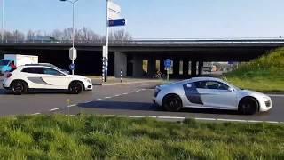 Mercedes-AMG GLA 45 crasht naast A12 bij De Meern (Utrecht)