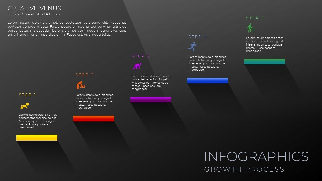 how to create business flowchart infographic design in