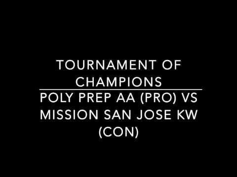 Poly Prep AA vs Mission San Jose KW TOC 2016 Quarters