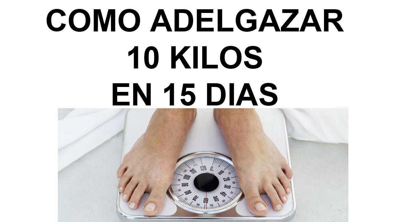 Bajar de peso 10 kilos en 10 dias el