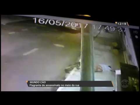 Flagrante de assassinato no meio da rua
