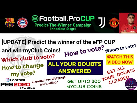 Predict the Winner Campaign Explained - PES Vote Campaign in PES 2020 Mobile for Free myClub Coins