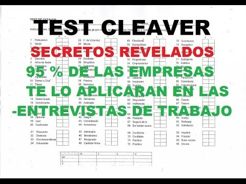 CLEAVER TEST psychometric test most used in business (know your secrets))