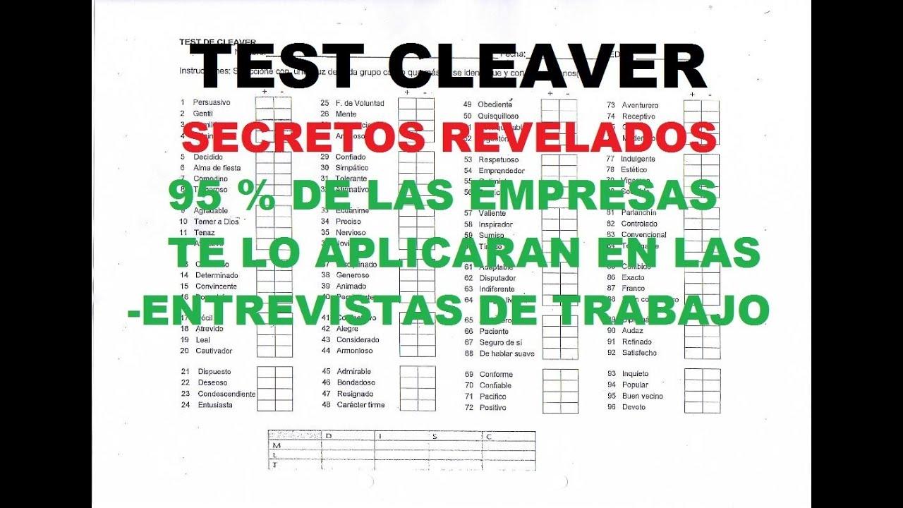 prueba psicologica cleaver