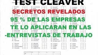 CLEAVER TEST Prueba psicometrica mas usada en las empresas (Conoce sus secretos))