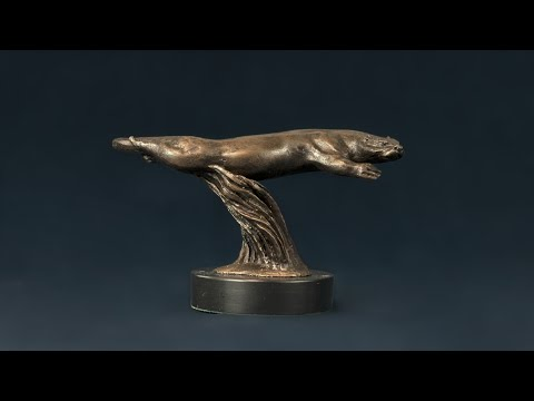 Swimming Otter BR   Tanya Russell   Animal Sculptor, Www Tanyarussell Com