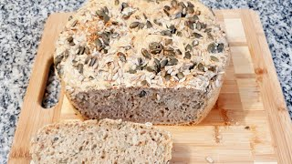 Pão De Grãos Integral e Vegano