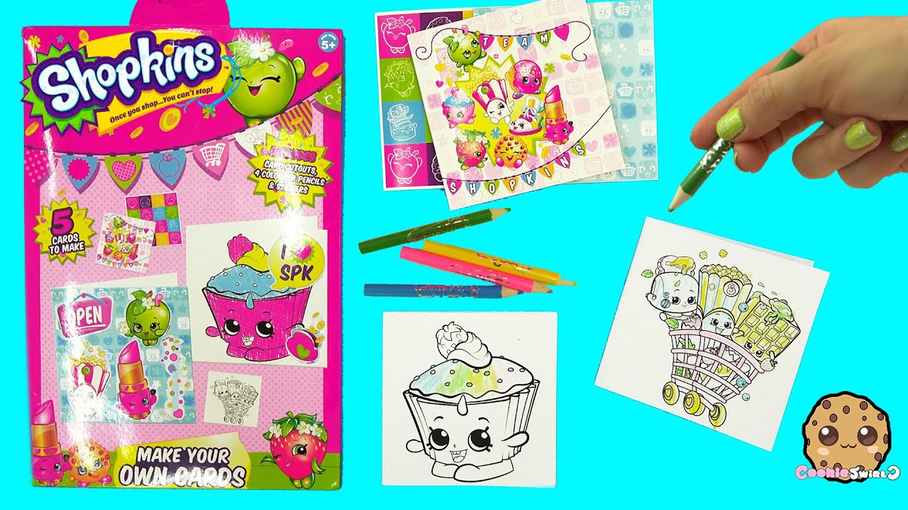 Make Your Own Shopkins Cards Color + Sticker Craft Kit ...