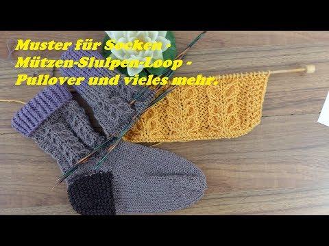 Video: 539*Muster für Socken - Mützen-Stulpen-Loop -Pullover und vieles mehr.Tutor...