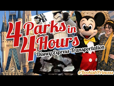 ALL 4 WDW PARKS IN 4 HOURS: New Disney Express Transportation