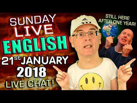 LIVE ENGLISH Lesson - 21st January 2018 - Trump! - Smacking Children - Newspapers - Words & Grammar