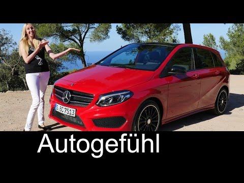 Mercedes B-Class B-Klasse AMG-Line B220 MPV FULL REVIEW test driven Facelift 2016 - Autogefühl