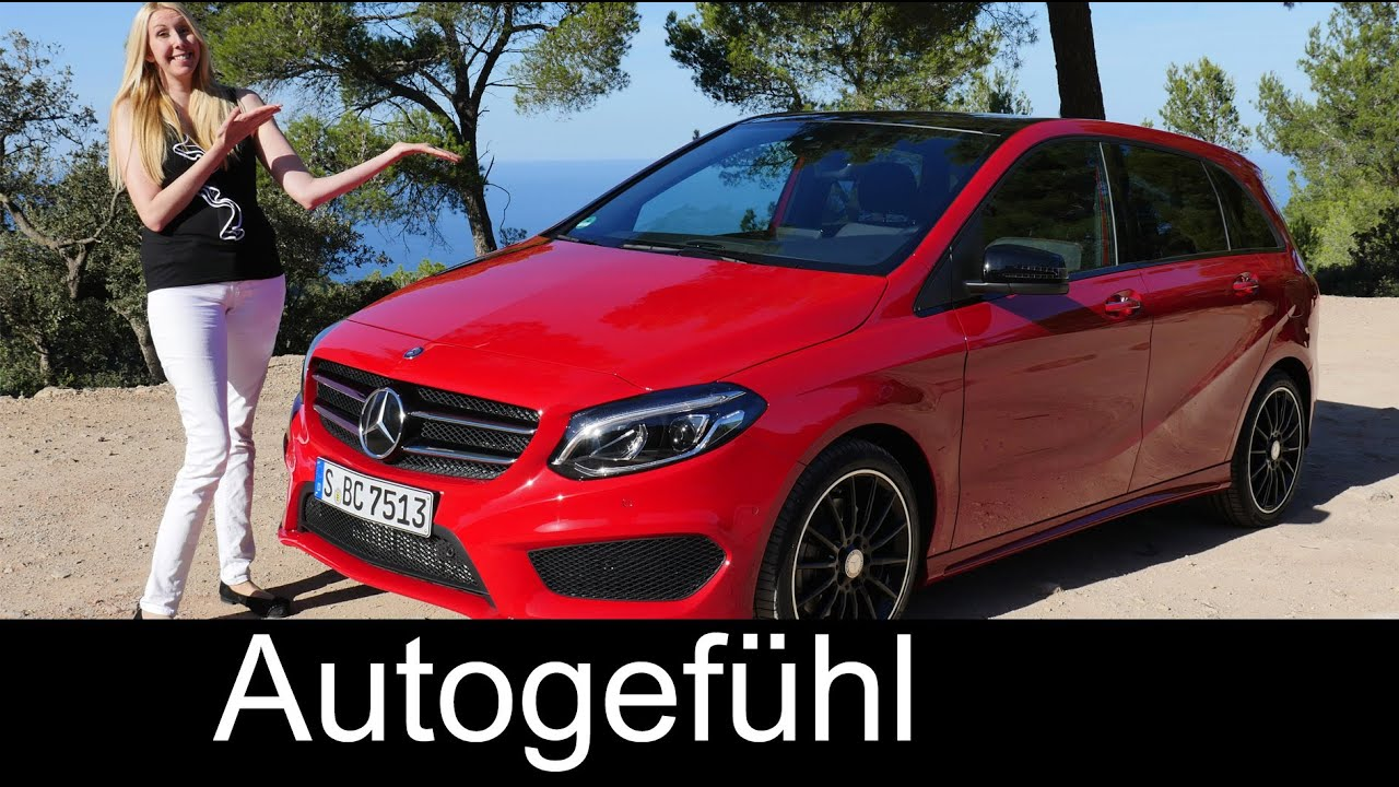 mercedes b class b klasse amg line b220 mpv full review test driven facelift 2016 autogef hl. Black Bedroom Furniture Sets. Home Design Ideas