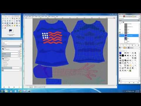 Making Basic Clothes For Your Avatar - Tshirt (Part 1)