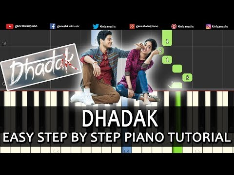 Dhadak Song | Easy Step By Step Piano Tutorials Chords Lessons By Ganesh Kini