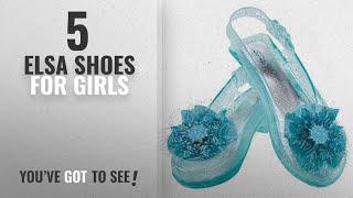 Top 10 Elsa Shoes For Girls [2018]: Disney's Frozen Elsa Shoes Girls Costume, One Size Child