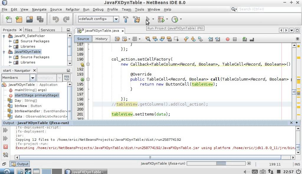 Java-Buddy: JavaFX Dynamic TableView with button, something wrong on