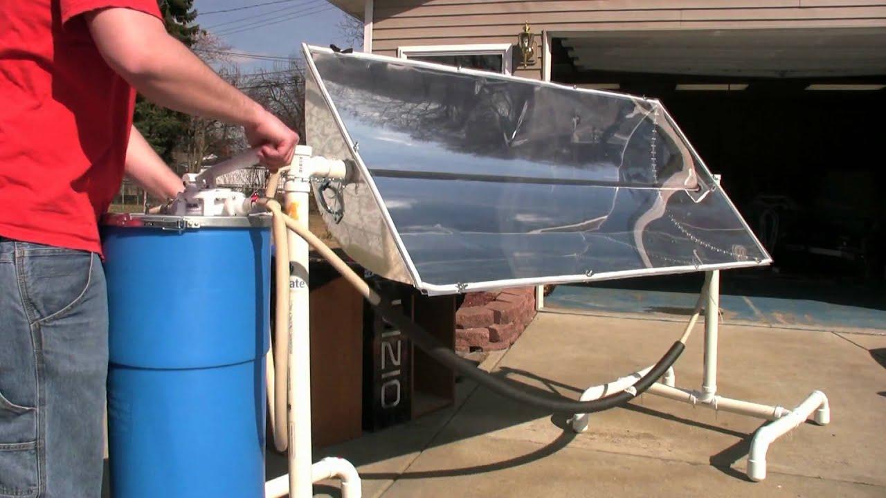 Solar Trough Maple Syrup Preheater Youtube