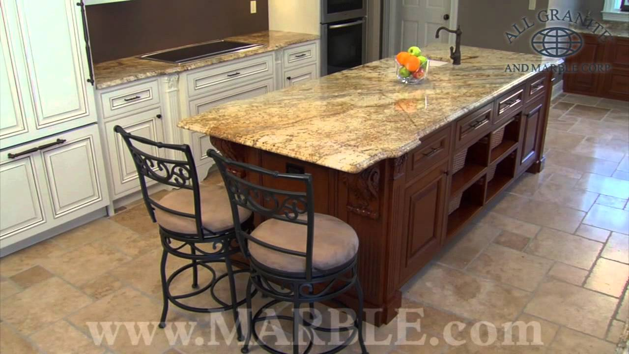 granite kitchen countertops.  Yellow River Granite Kitchen Countertops Marble Com YouTube