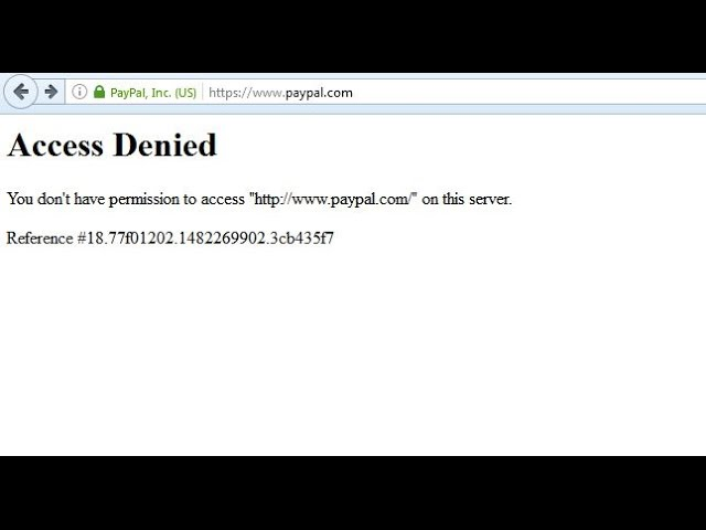 Pay Pal Access Denied Fix Youtube