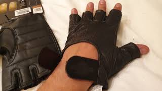 Harley Davidson Perforated Fingerless Gloves Review