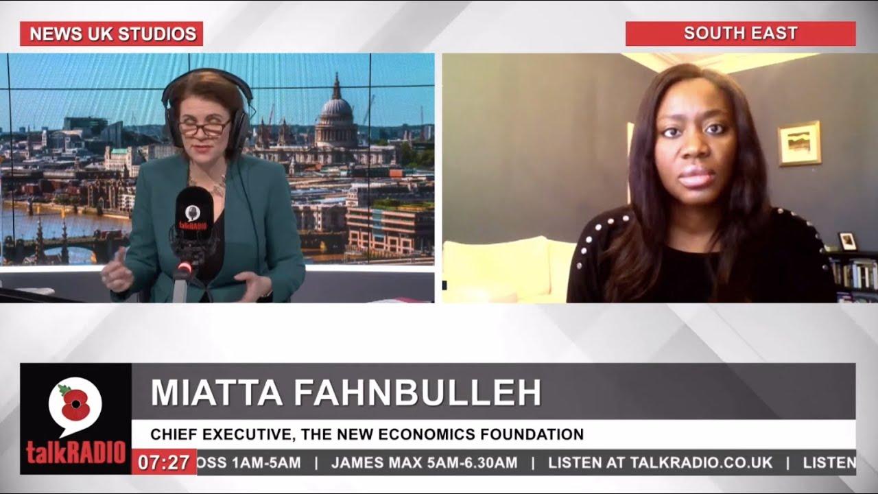 Miatta Fahnbulleh on the second UK lockdown on talkRADIO - YouTube