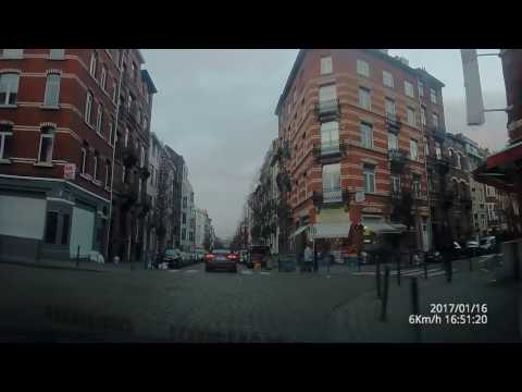 Driving in Molenbeek Brussel/Bruxelles Belgium dashcam 2017