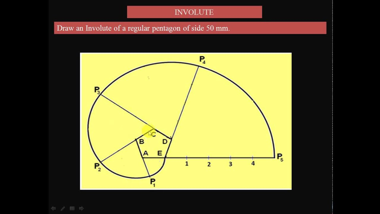 maxresdefault how to draw an involute of regular pentagon youtube