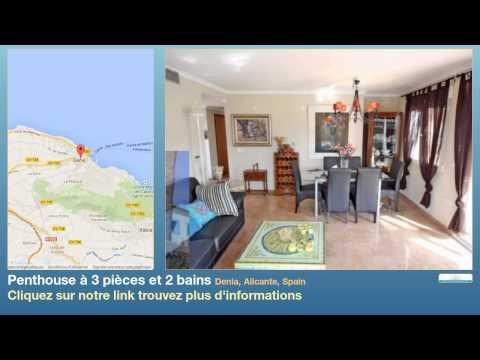 Penthouse à 3 pièces et 2 bains à vendre à Denia, Alicante, Spain