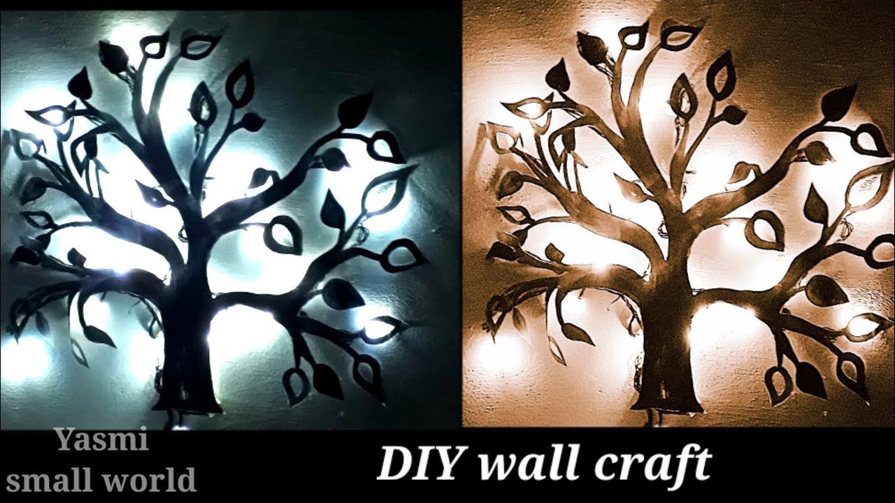 DIY easy wall hanging crafts  how to Decorate wall  
