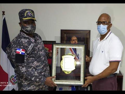 Entregan reconocimientos en Nagua al coronel Juan Francisco Solano Jáquez.