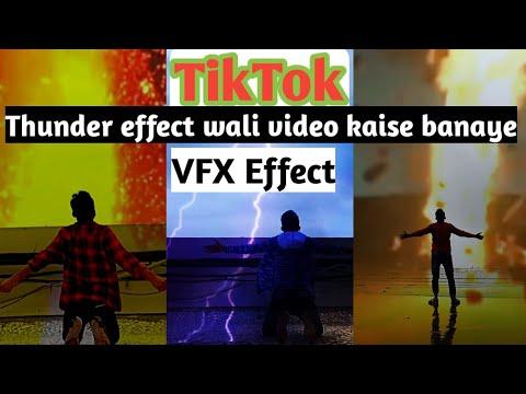 TikTok Par Thunder Effect wali Video kaise banaye | TikTok