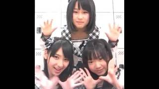 HKT48 古森結衣(ういたん)、宮脇咲良(さくら)、松岡菜摘(なつ) [...