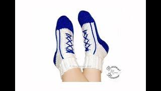 Носки кеды спицами, не на подошве, размер 37-38