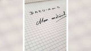 #DAEU - préparer la rentrée - Le Matériel