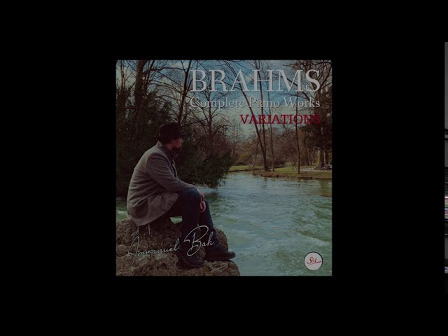 Immanuel Bah plays Variations on a theme by Paganini, Op 35 I & II books by Johannes Brahms