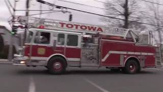 Totowa NJ Fire Department Truck 1 Responding on Union Blvd for a reported kitchen fire March 5th 201