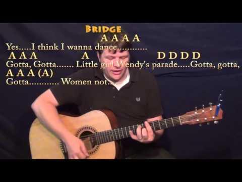 Kiss (Prince) Guitar Cover Lesson with Chords/Lyrics - A D E