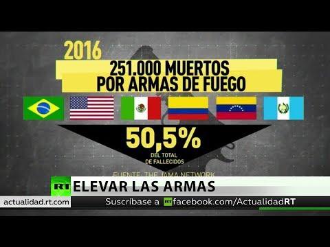 RT en Español: Estos son los 'líderes' entre los países donde más personas murieron por armas de fuego